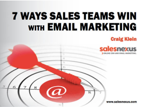 7 Ways Sales Teams Win with Email Marketing