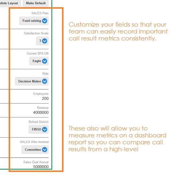 Customer Engagement CRM fields